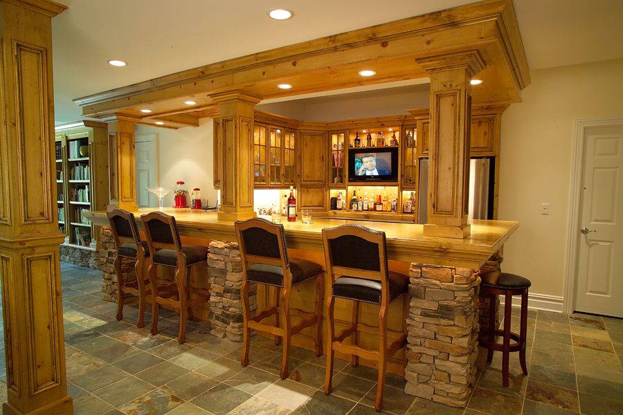 Custom bar cabinetry custom cabinets bar design new for Lounge pictures designs