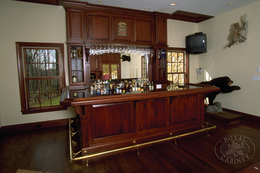 Custom bar cabinetry custom cabinets bar design new jersey nj Home bar layout and design ideas